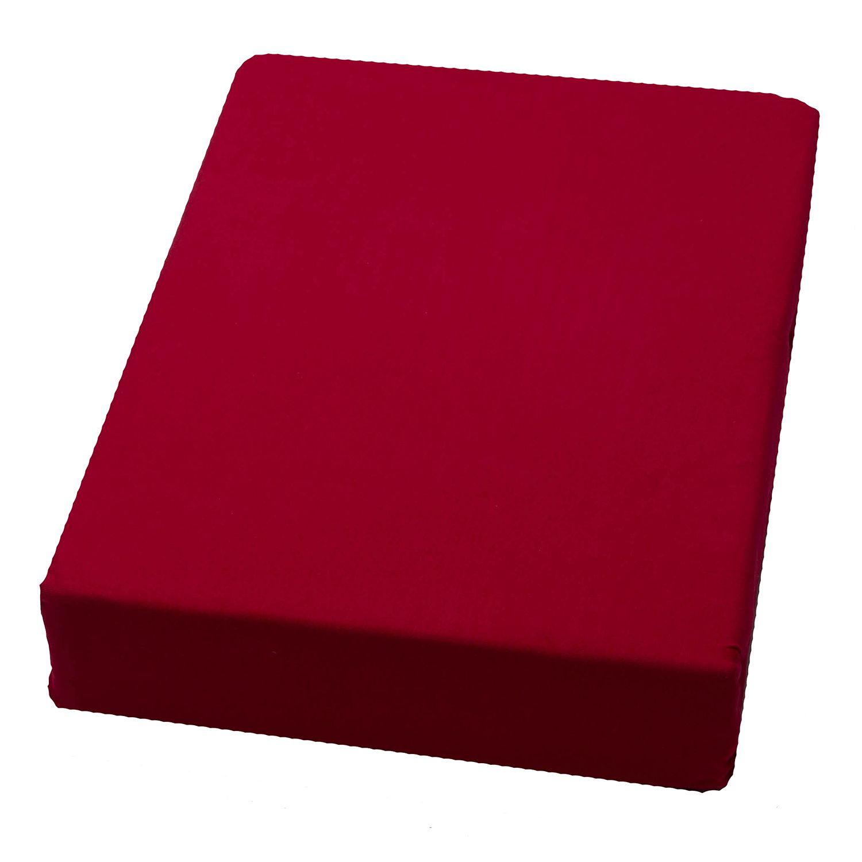 domoLine Spannbetttuch Domoline 150x200 cm (BxT) Mischgewebe Rot Modern, domoLine