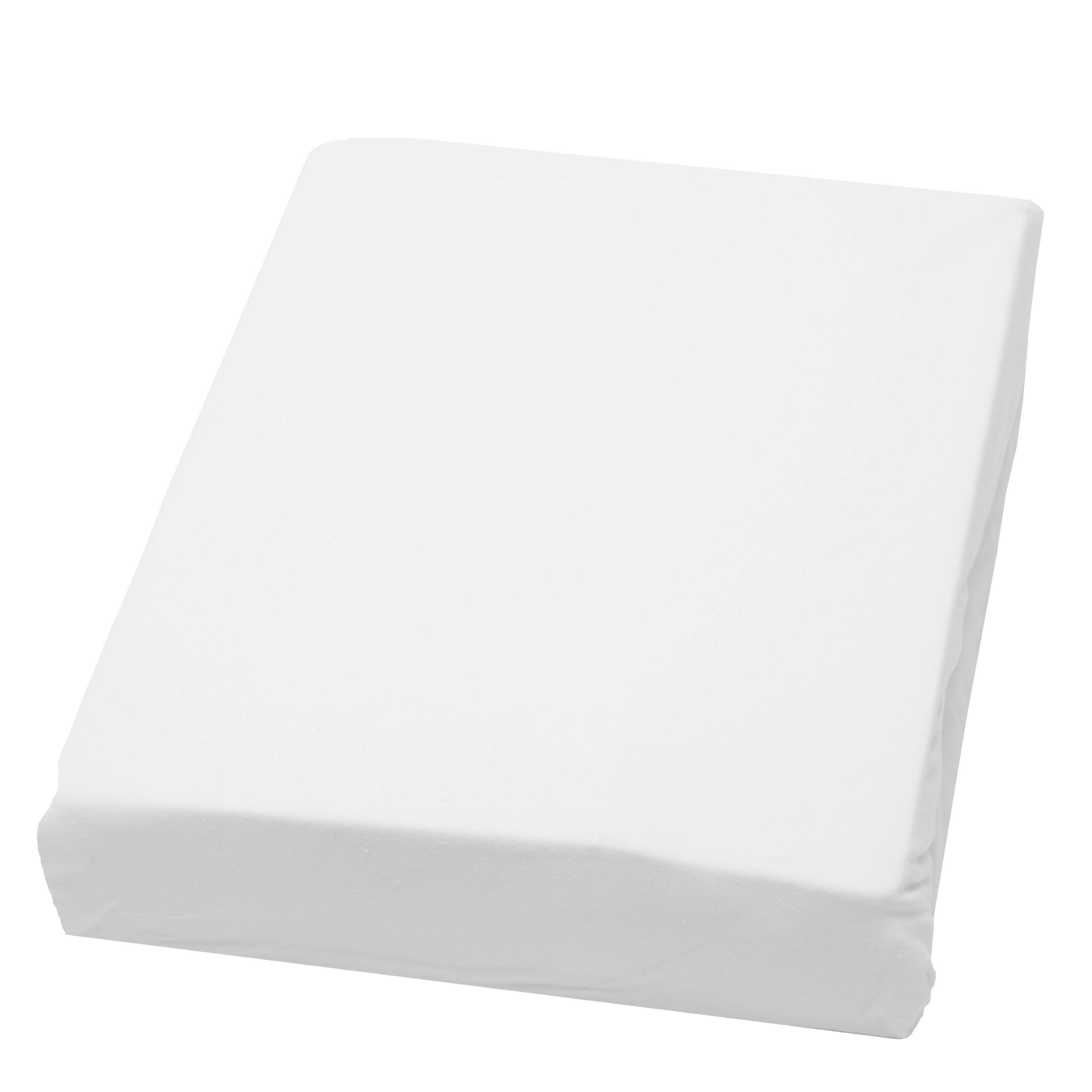 domoLine Spannbetttuch Domoline 200x200 cm (BxT) Mischgewebe Weiß Modern, domoLine