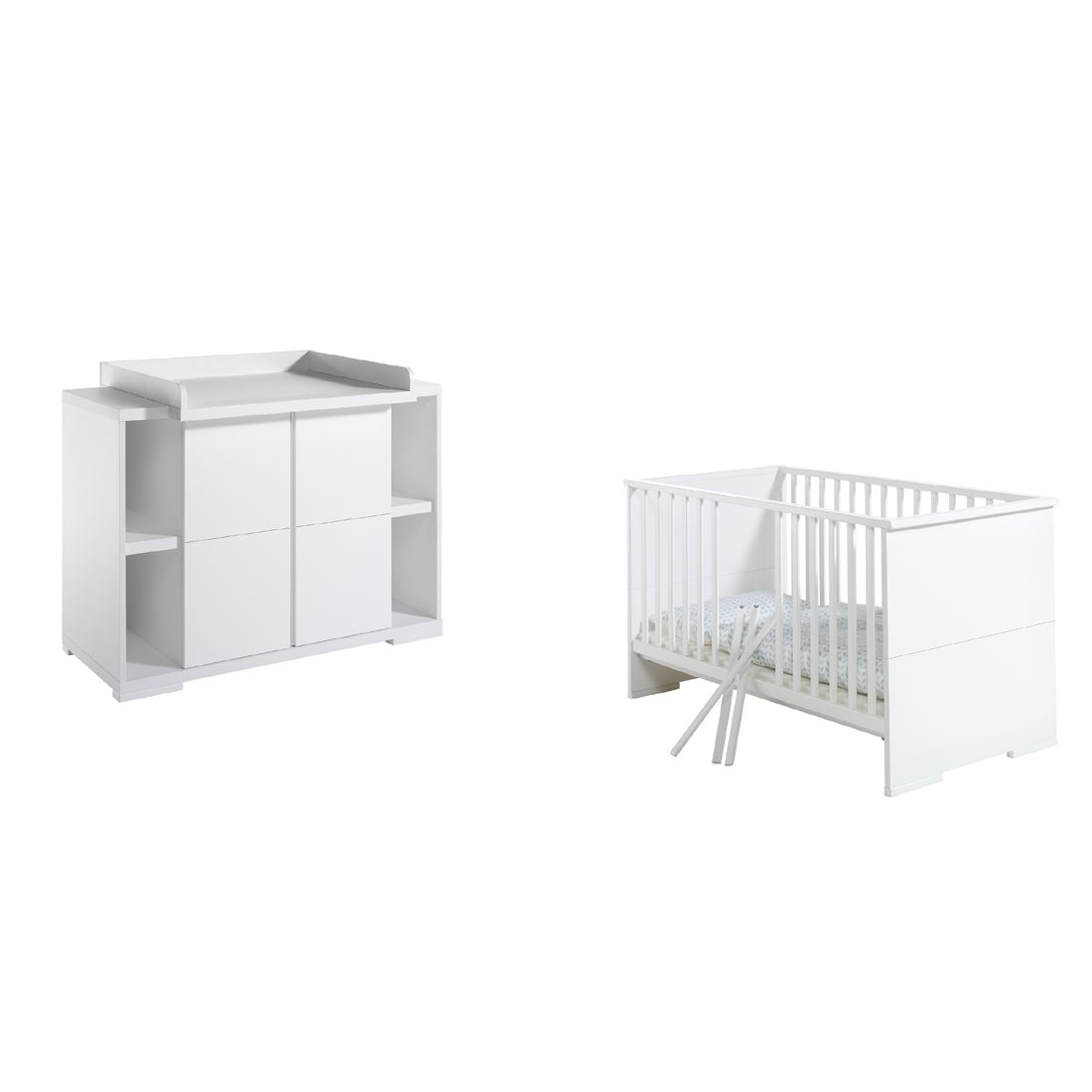 Babyzimmer-Set Maximo- Weiss