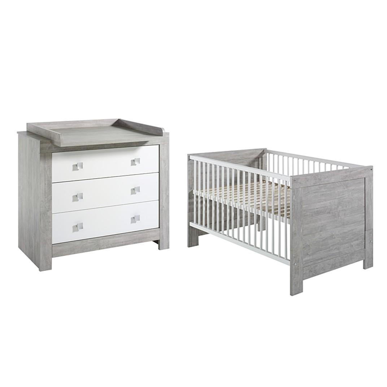 Babyzimmer-Set Nordic- Driftwood Dekor/Weiß, Sc...