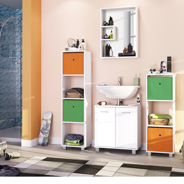 home24 Faltbox Uni (2er Set) | Dekoration > Aufbewahrung und Ordnung > Kästchen | Orange | Textil | Schildmeyer