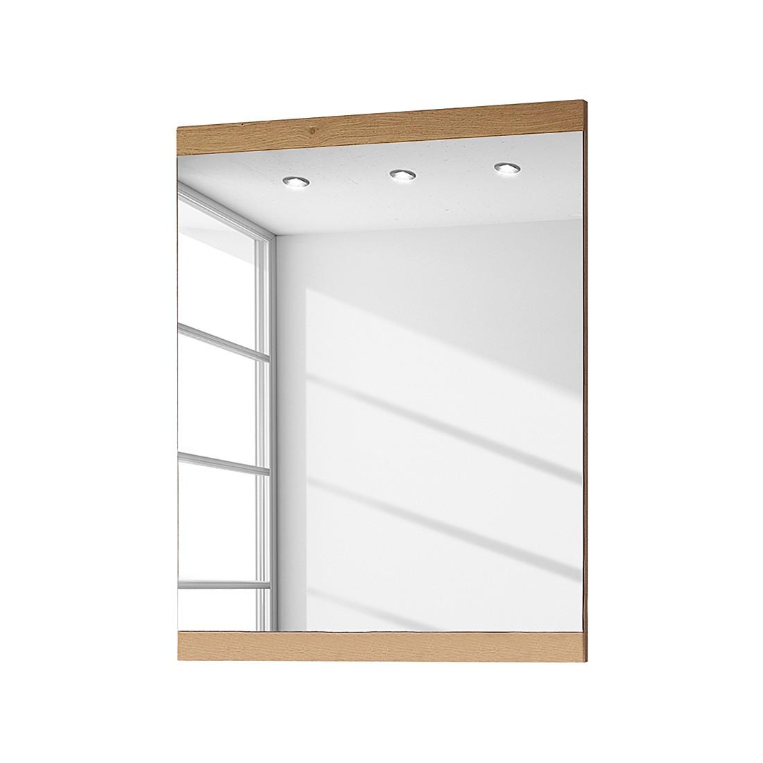 Miroir Ellison I - Chêne sauvage brut de sciage - 58 x 80 cm, Voss