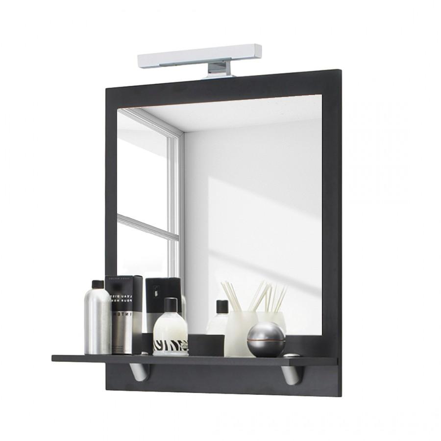 home24 Spiegel Valencia | Flur & Diele | Grau | Holzwerkstoff | Posseik