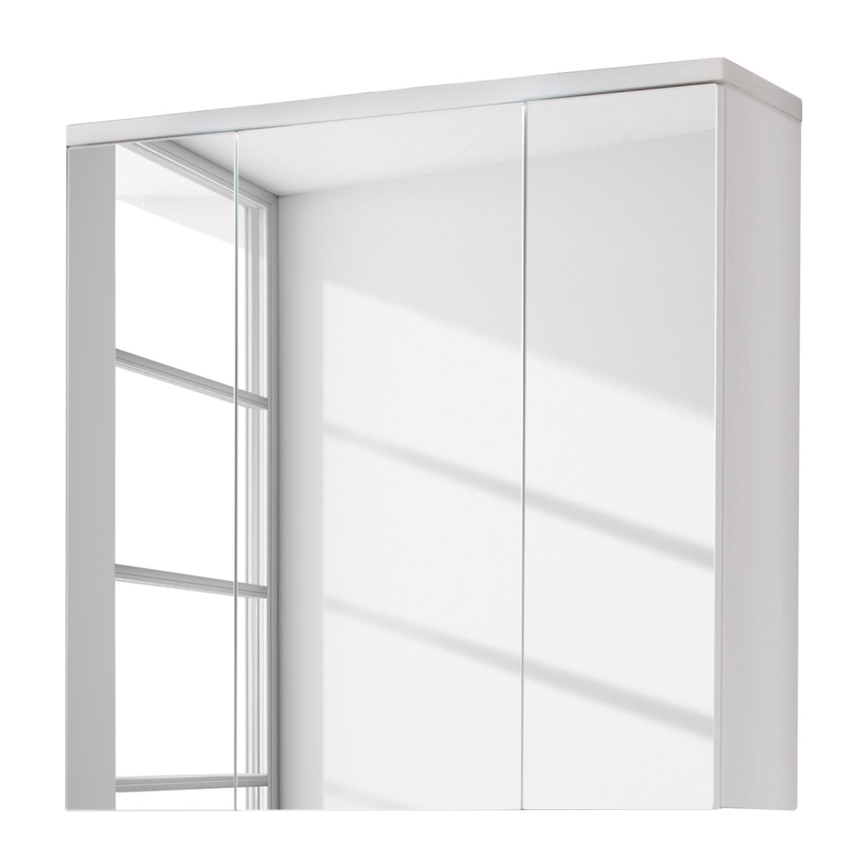 Armoire de toilette Adamo I - Sans éclairage - Blanc brillant / Blanc - 75 cm, Trendteam