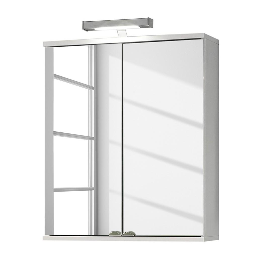 EEK A+, Armoire à miroir Welnezz - Avec éclairage LED - Blanc perle, Schildmeyer