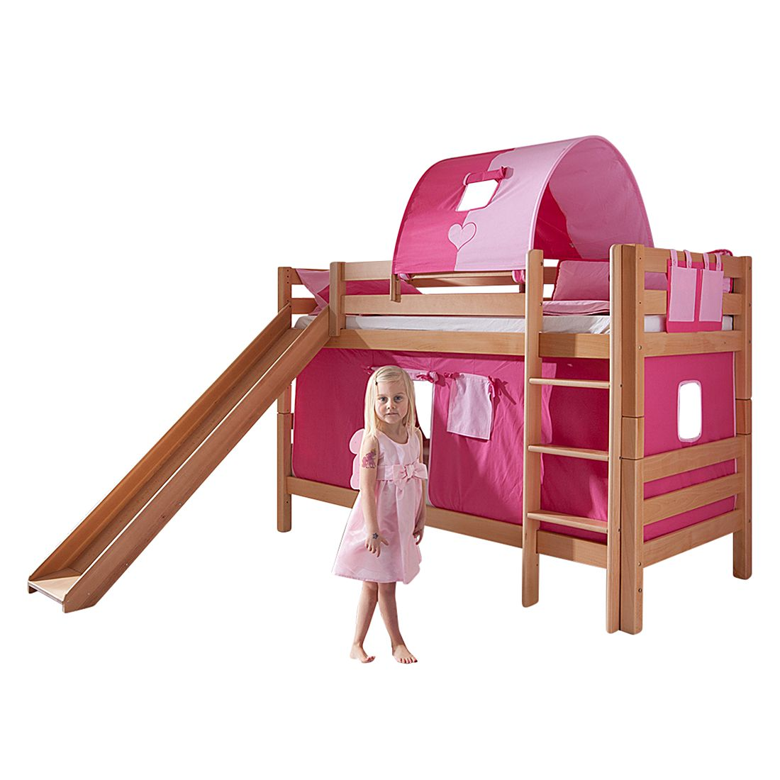 Spielbett Beni | Kinderzimmer | Braun | Massivholz - Holz | Relita