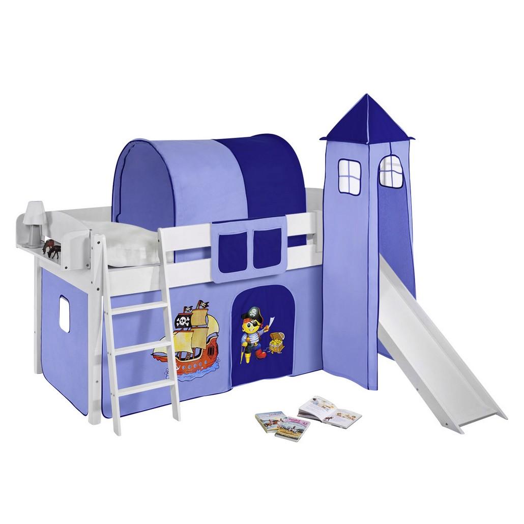 Lit mezzanine ludique IDA Pirate Bleu