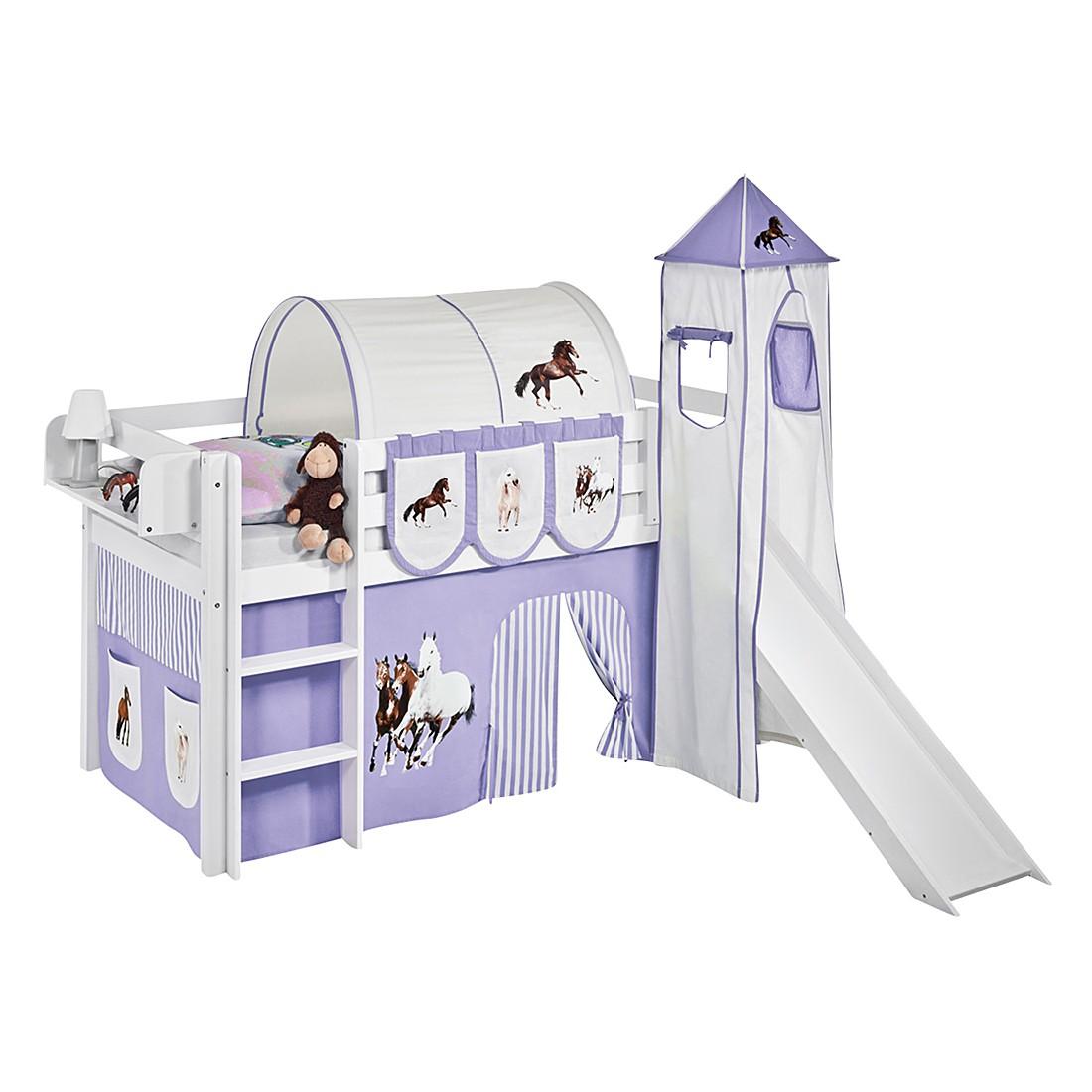 home24 Spielbett JELLE Pferde Lila | Kinderzimmer > Kinderbetten > Hochbetten | Lilokids