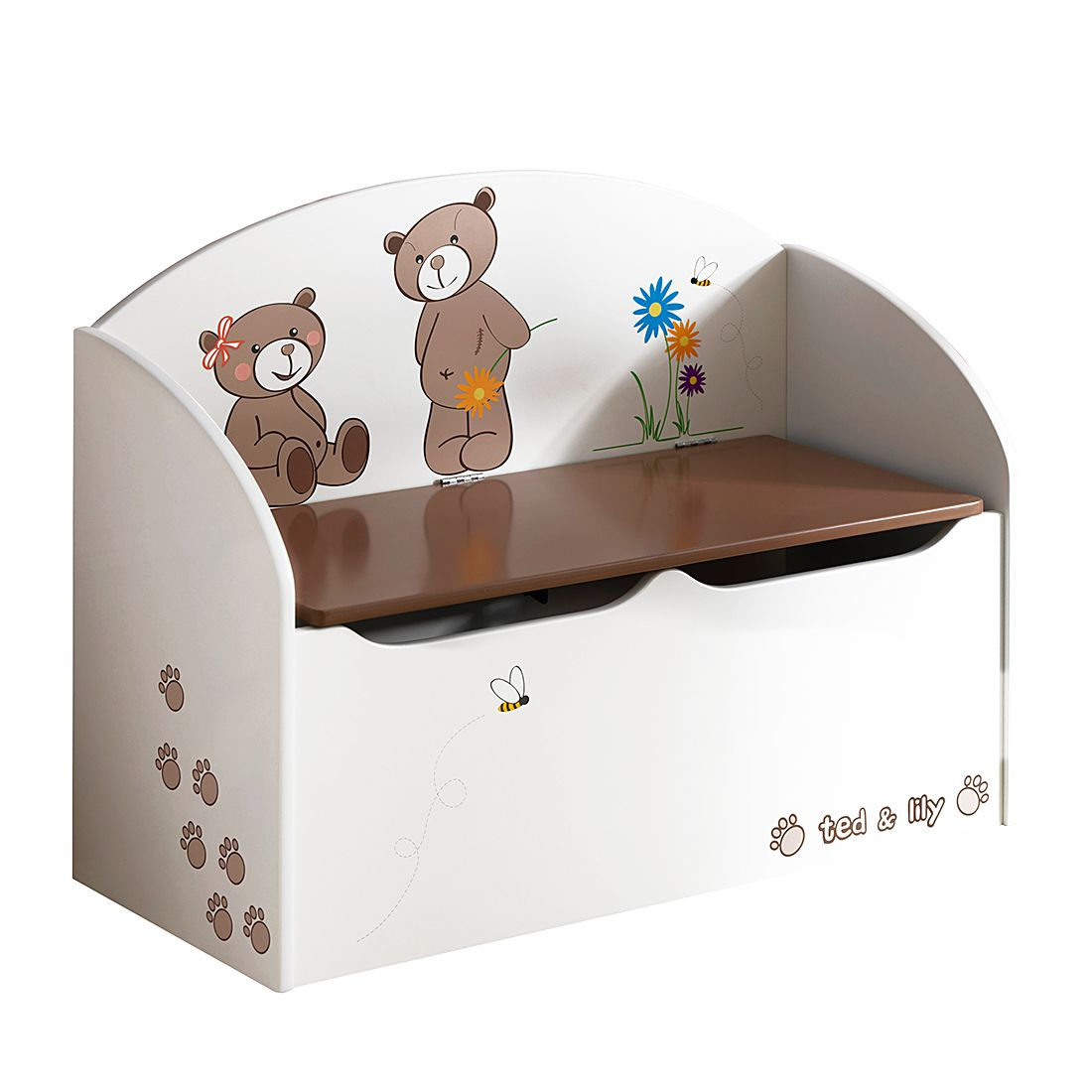 Spielzeugtruhe Ted - Beige/Chocolat, Kids Club Collection