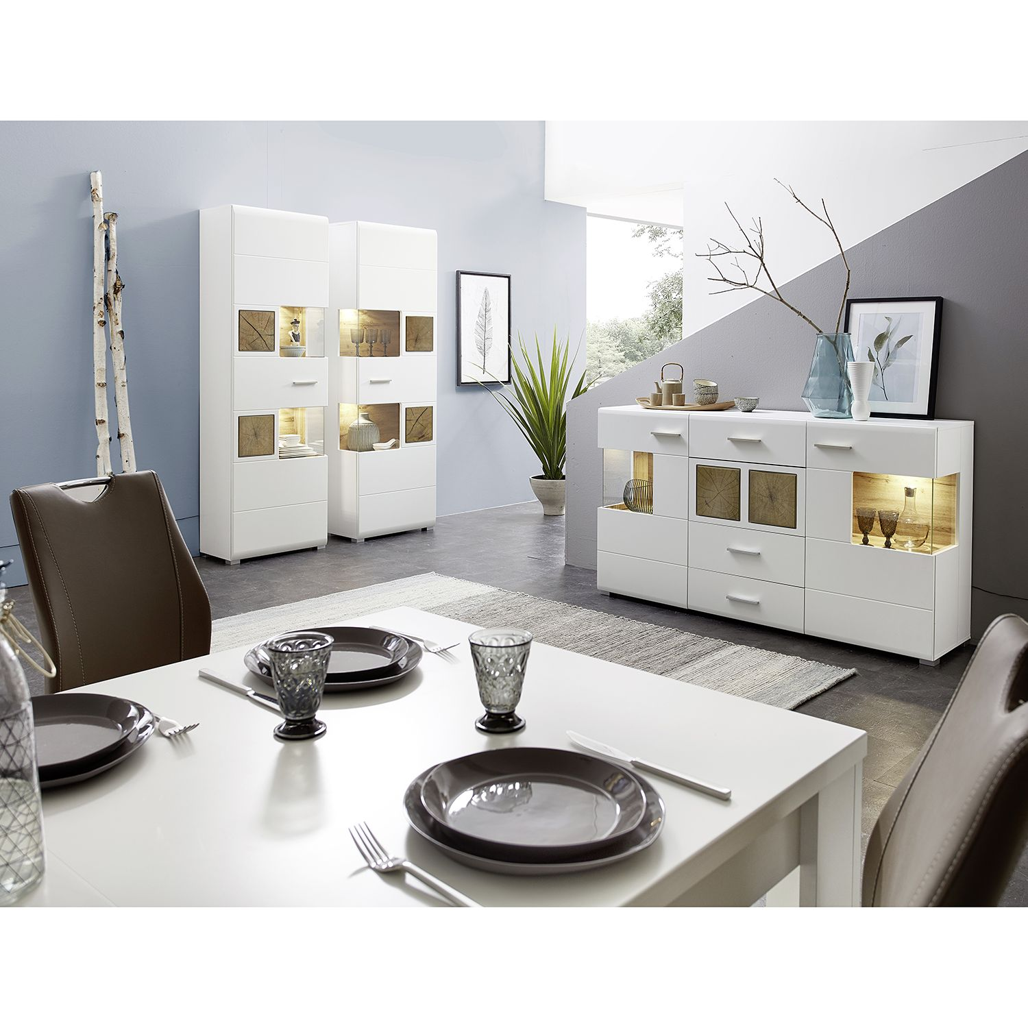 home24 Sideboard Aulby (inkl. Beleuchtung)