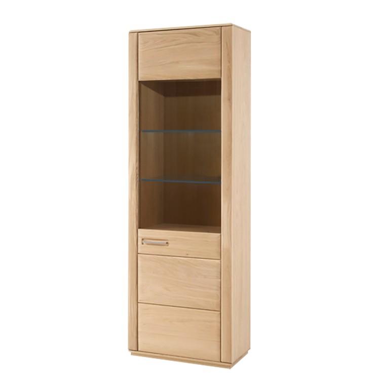 home24 Standvitrine Structura | Wohnzimmer > Vitrinen > Standvitrinen | Beige | Holz teilmassiv - Holzwerkstoff | Naturoo