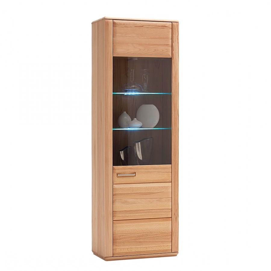 home24 Standvitrine Structura | Wohnzimmer > Vitrinen | Braun | Holz teilmassiv - Holzwerkstoff | Naturoo