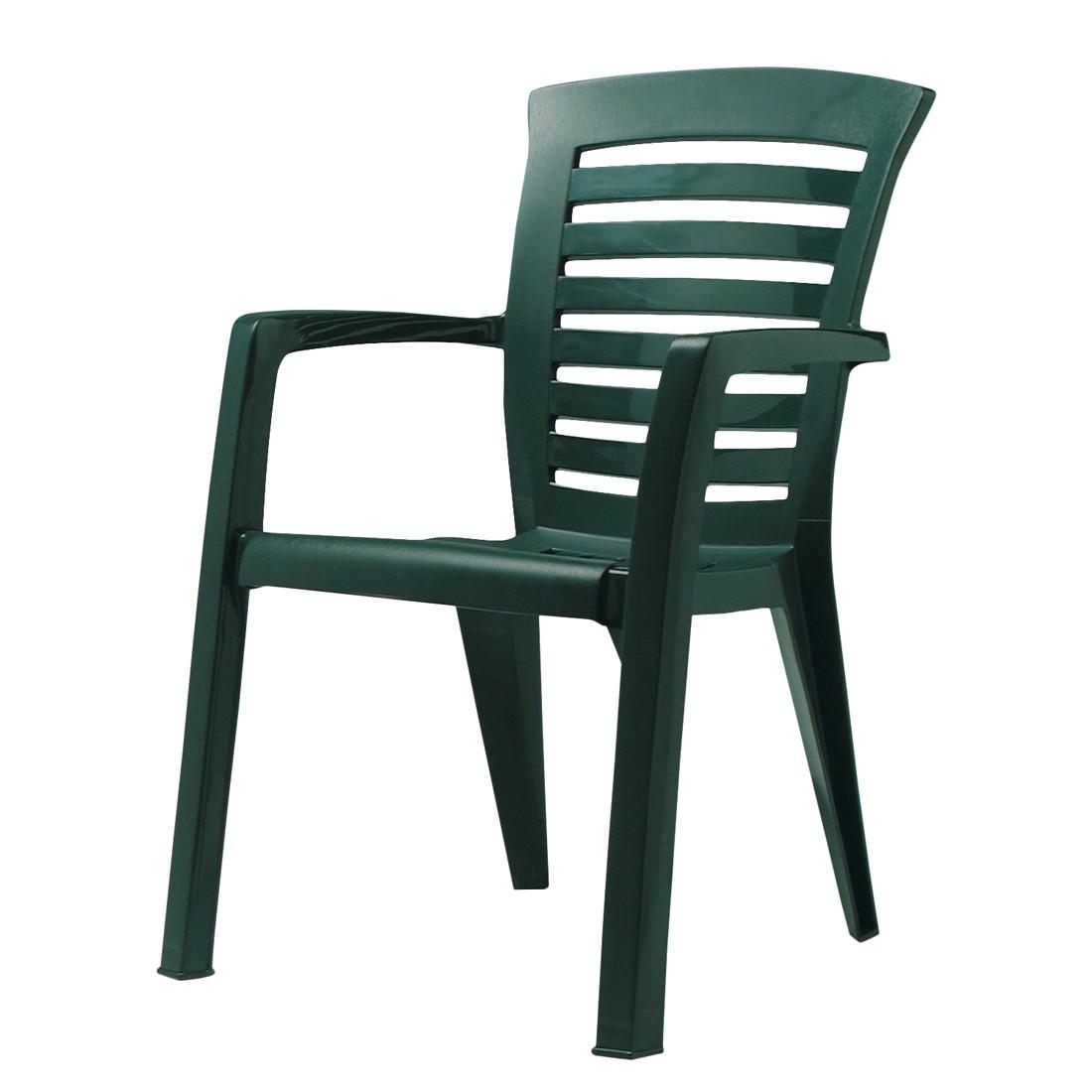 Stapelstuhl Florida - Kunststoff - Grün, Best Freizeitmöbel