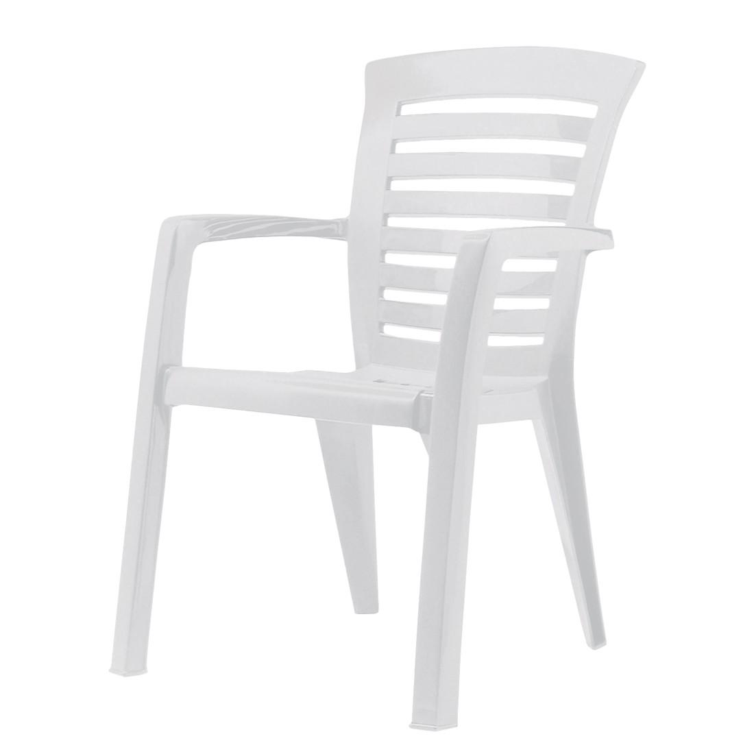 Stapelstuhl Florida - Kunststoff - Weiß, Best Freizeitmöbel bei Home24 - Sonderangebote