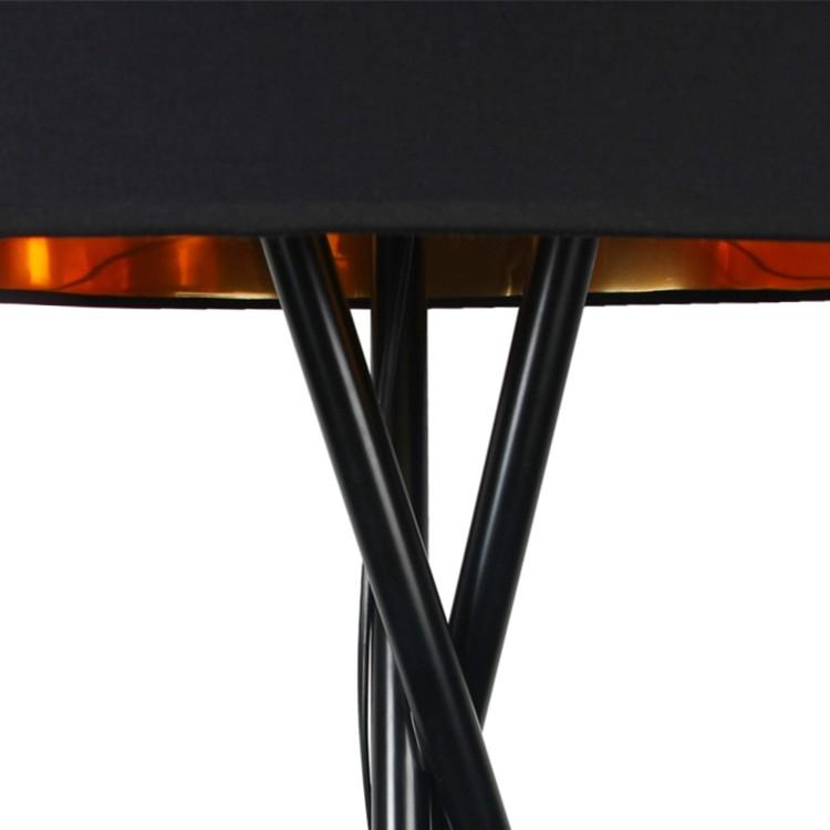 Stehleuchte Tripod Aton - Webstoff / Metall | home24