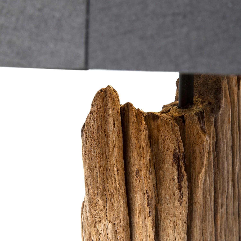Stehleuchte Nature Straight Baumwolle Schwarztreibholz Home24