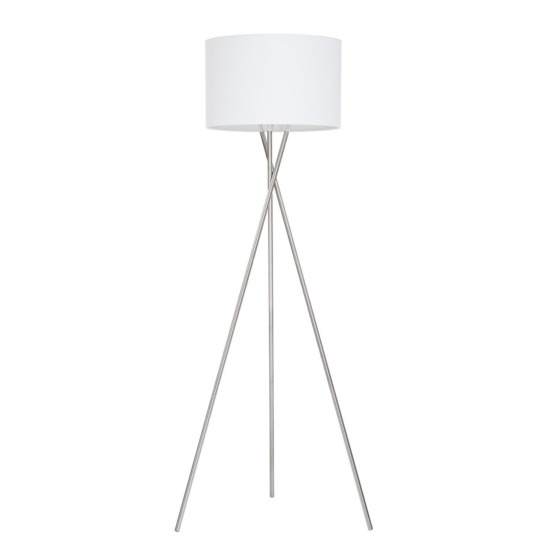 EEK A++, Lampadaire Tripod Stylt - Tissu / Fer - 1 ampoule - Blanc, Loistaa