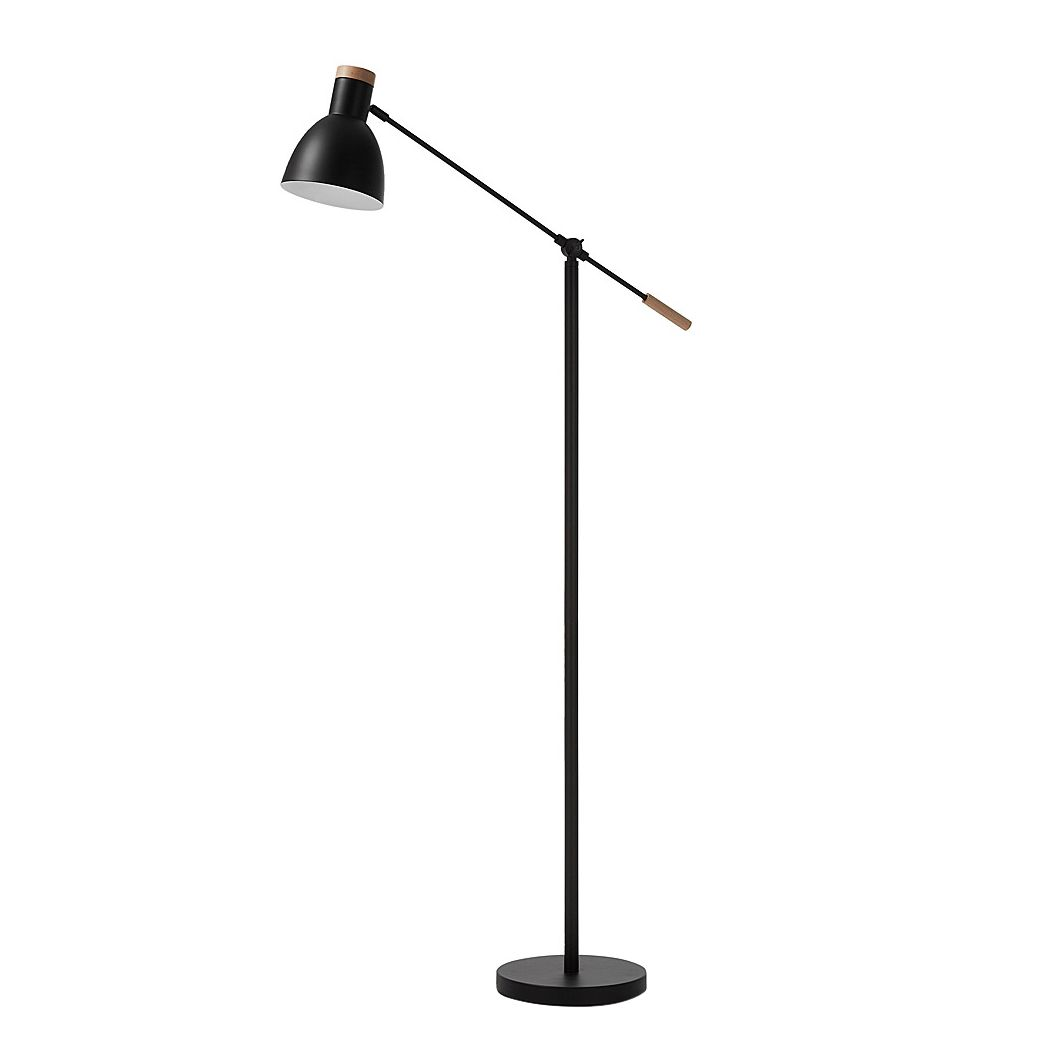 EEK A++, Lampadaire Tescarle II - Métal / Bois - 1 ampoule, Norrwood