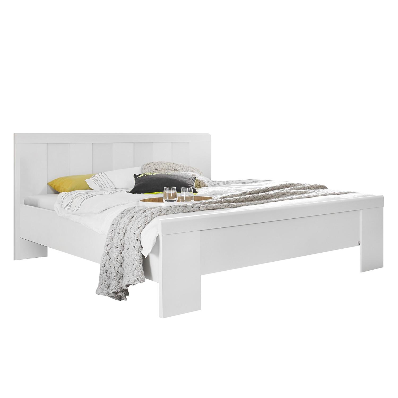 Lit à montants Agnetha - Blanc alpin - 140 x 200cm - Pas de coffre à literie, Rauch Select