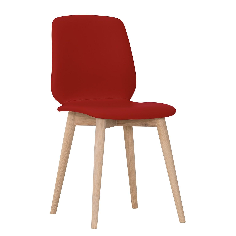 Polsterstuhl Helvig II (2er-Set) | Küche und Esszimmer > Stühle und Hocker > Polsterstühle | Rot | Echtleder | Studio Copenhagen
