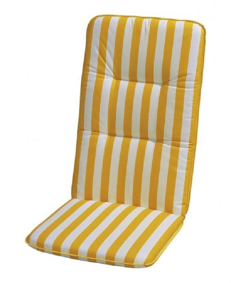 Auflage Basic Line - Gelb-Weiß gestreift - Hochlehner - 120 x 50 bei Home24 - Sonderangebote