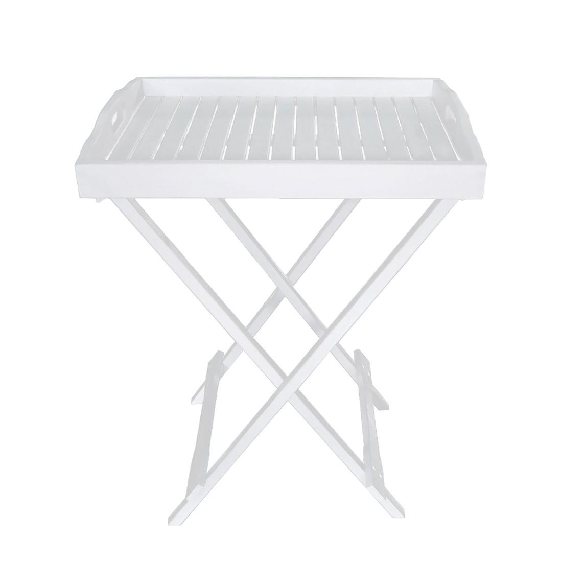 home24 Tabletttisch Sizun   Wohnzimmer > Tische > Weitere Tische   Weiss   Massivholz   Garden Pleasure