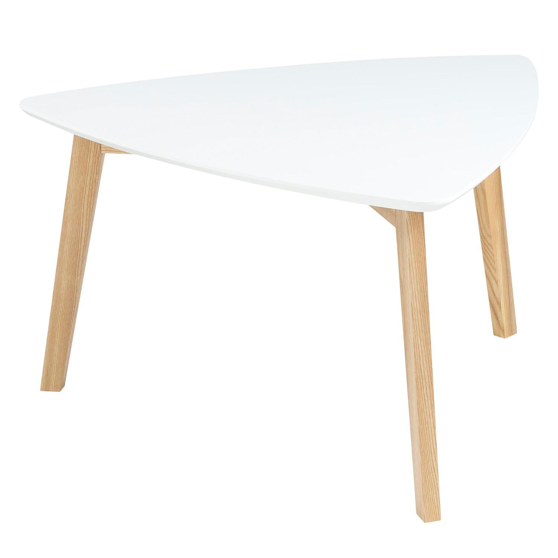 Tavolino da salotto parzialmente massello Mern - Bianco, Morteens