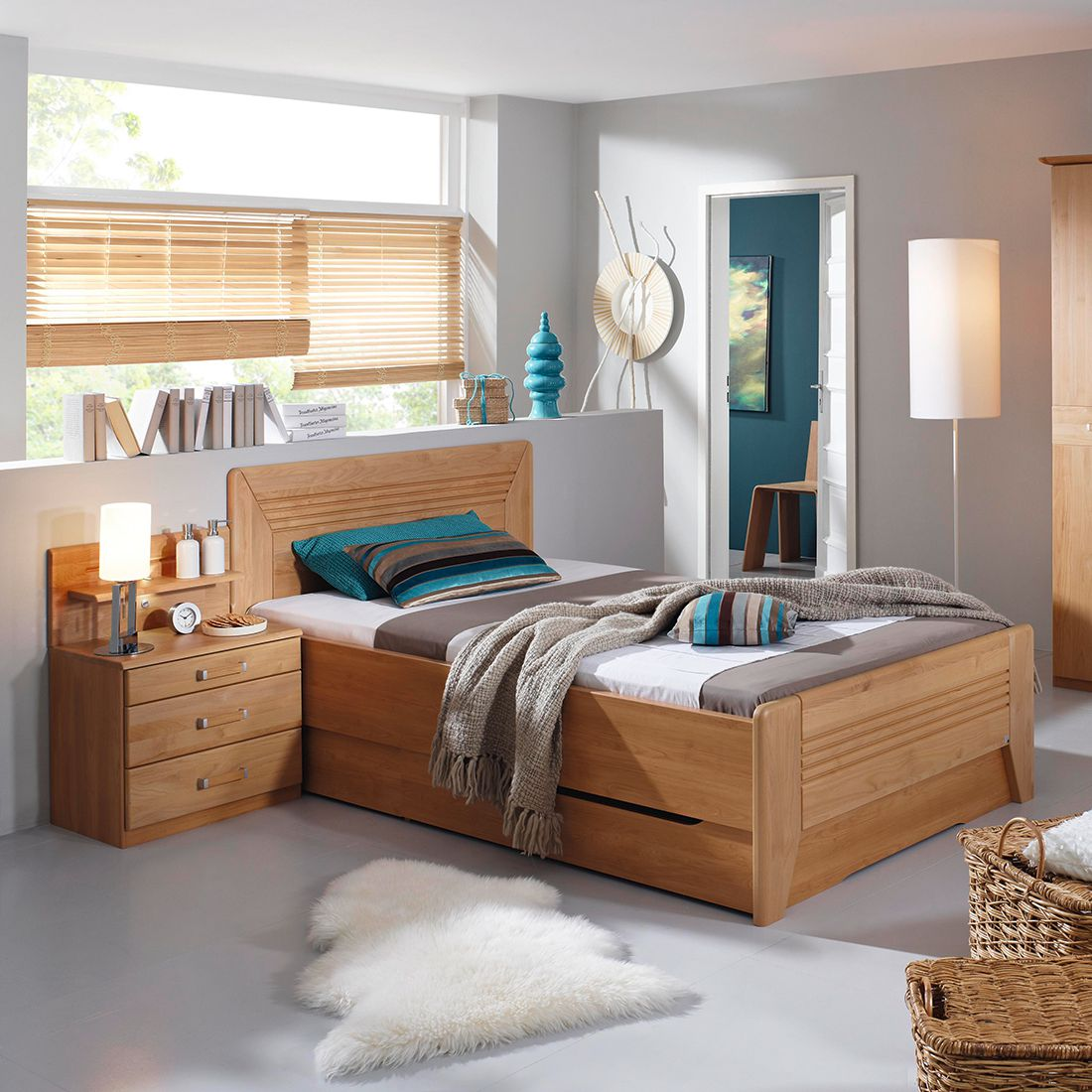 home24 Teilmassives Komfortbett Valerie III | Schlafzimmer > Betten > Komfortbetten | Braun | Rauch Steffen