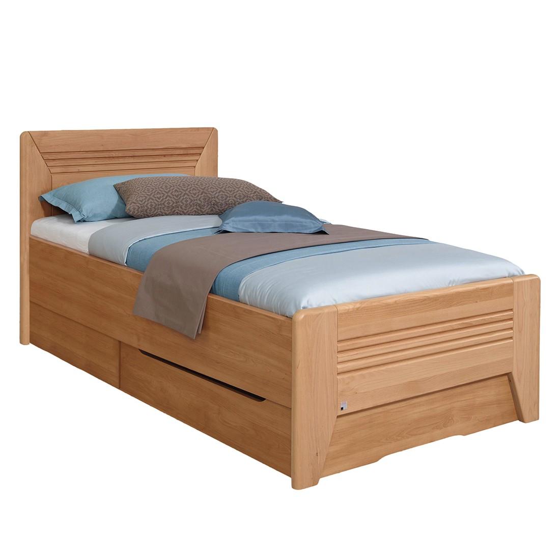 home24 Teilmassives Komfortbett Valerie III | Schlafzimmer > Betten > Komfortbetten | Braun | Holz - Teilmassiv | Rauch Steffen
