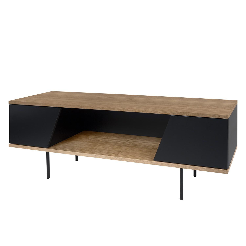 Meuble tv tallberg noyer noir mat reconcept atelier for Atelier du meuble