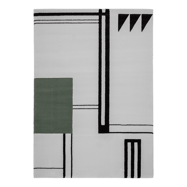 Teppich Alaska IX - Webstoff - Creme / Schwarz - 160 x 230 cm, Top Square