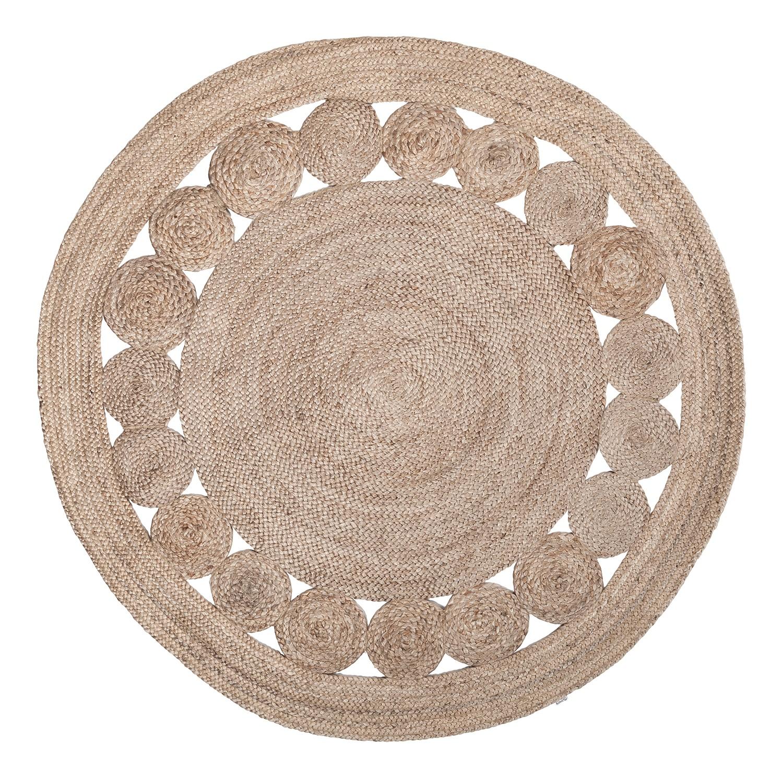Teppich chieko handgeflochten jute 150 cm 4576140