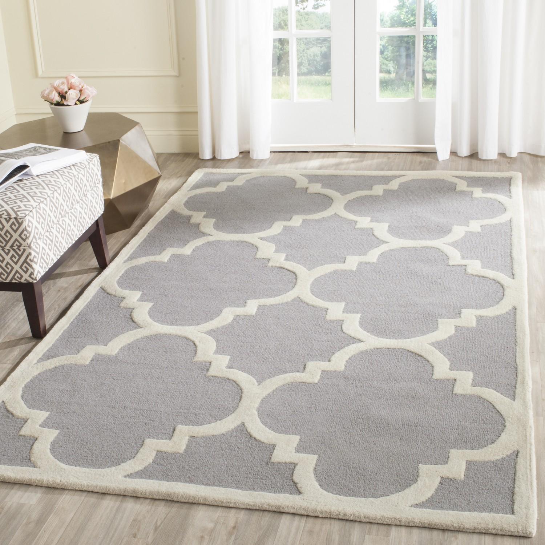 Safavieh Teppich Clark Silber 200x300 cm (BxT) Modern Wolle, Safavieh