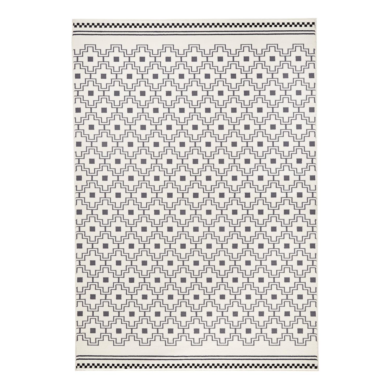 Tapis Cubic - Fibres synthétiques - Gris / Crème - 140 x 200 cm, Zala Living image