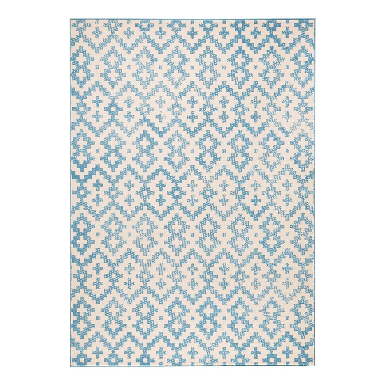 Teppich Duo - Kunstfaser - Blau / Beige - 140 x 200 cm, Zala Living