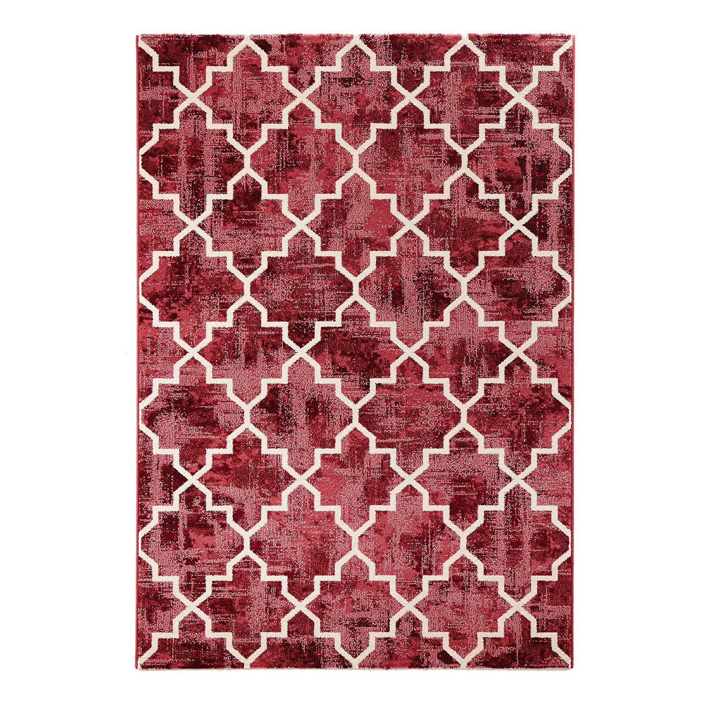 Teppich Elegance - Kunstfaser - Rot / Weiß - 200 x 290 cm, Bougari