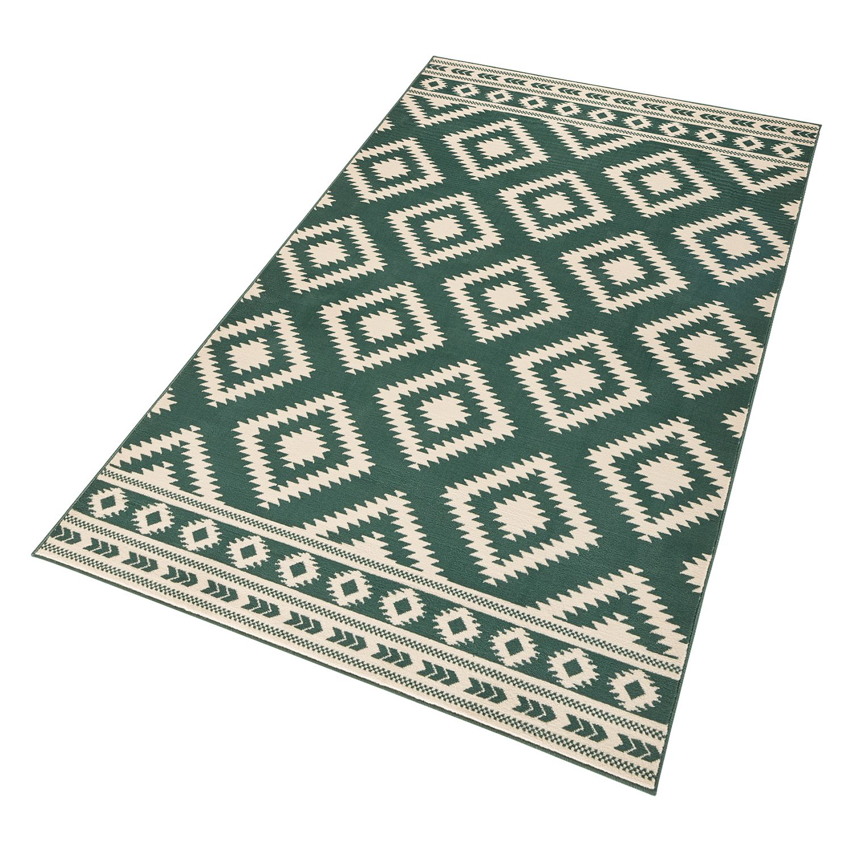 Tapis Ethno - Fibres synthétiques - Vert / Blanc - 120 x 170 cm, Top Square image