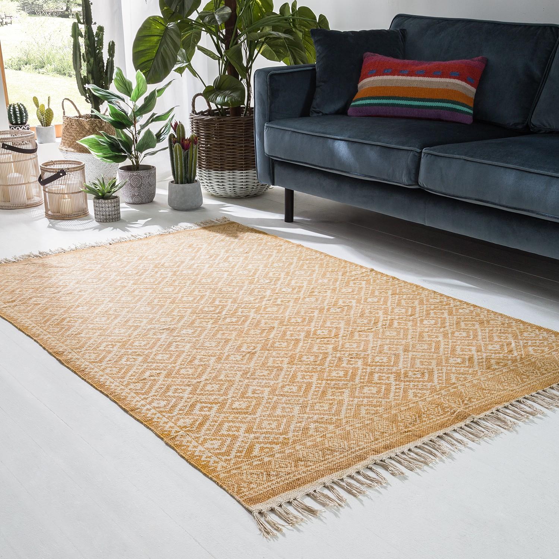 Teppich ethno pattern baumwollstoff safrangelb 4715148