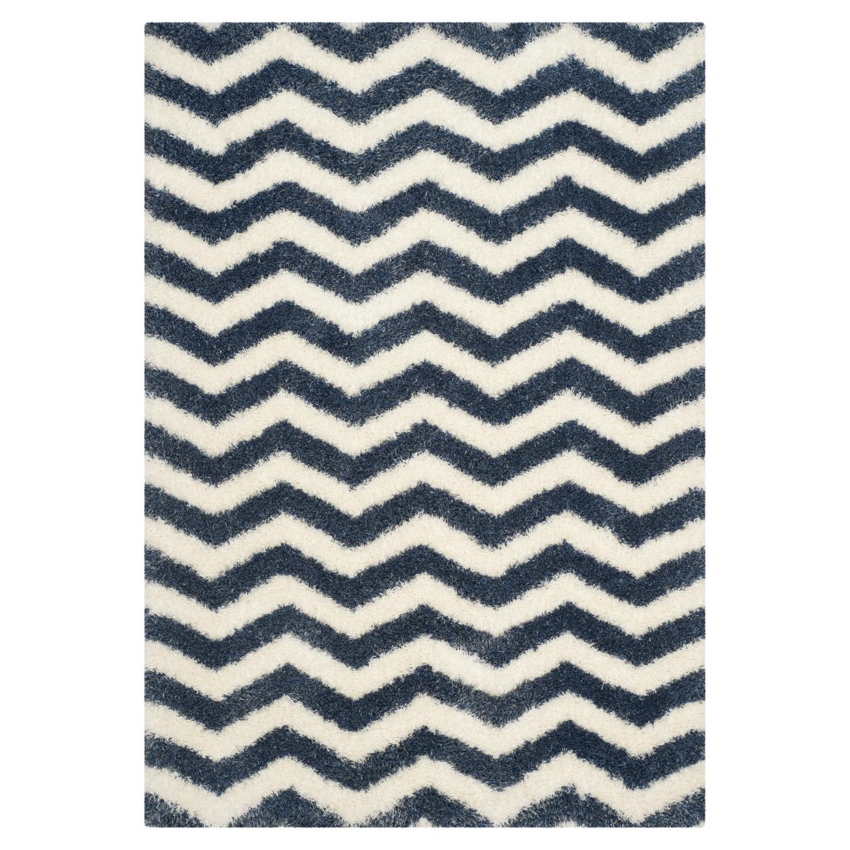 Safavieh Teppich Frances Blau/Weiß 160x230 cm (BxT) Modern Kunstfaser, Safavieh
