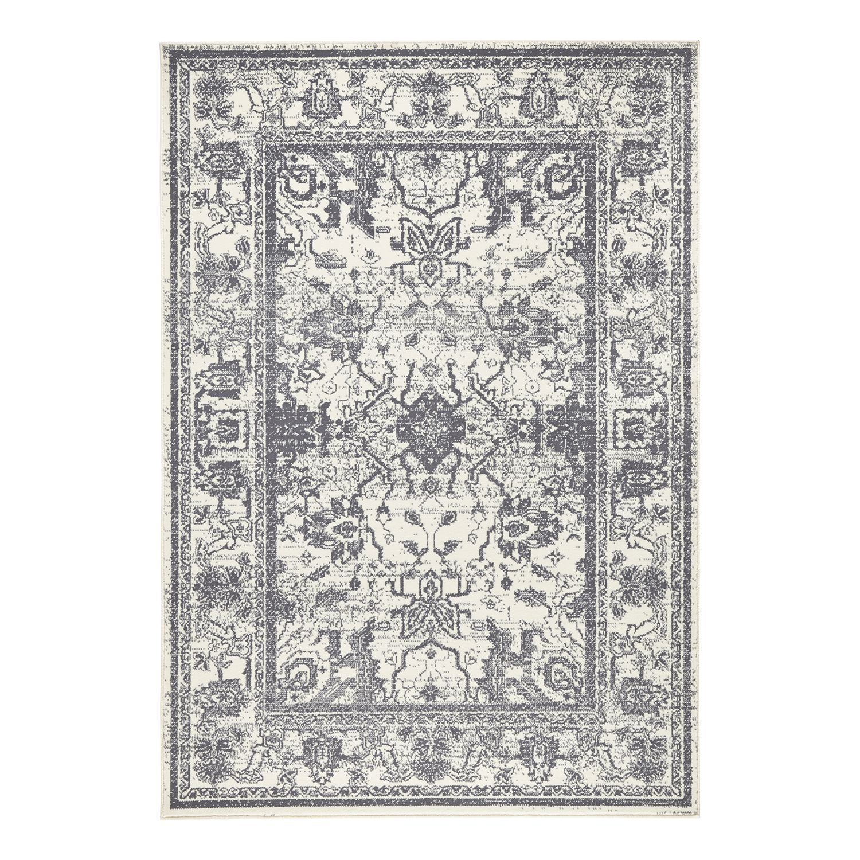Teppich Glorious - Kunstfaser - Grau / Creme - 160 x 230 cm, loftscape