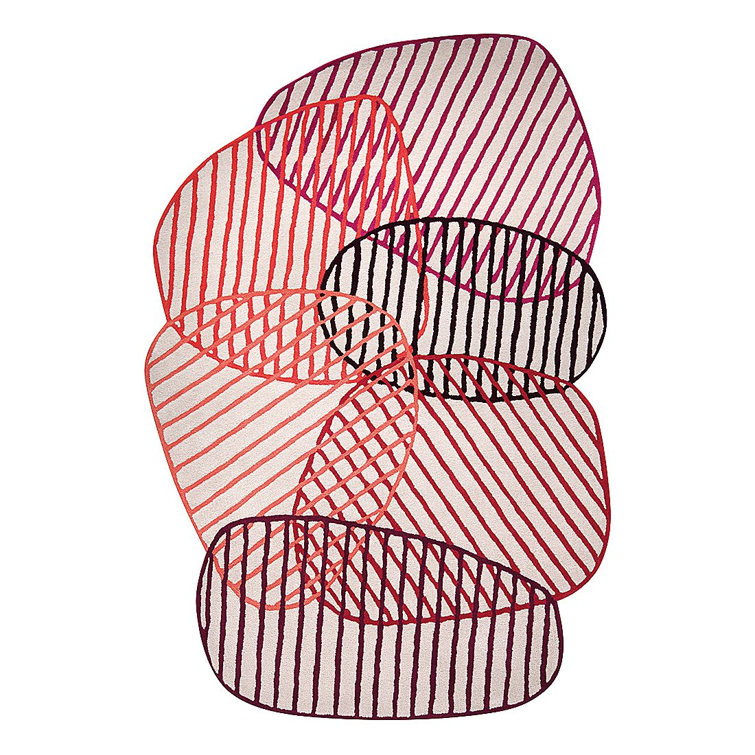 Teppich Graphic Jungle - Kunstfaser - Rot - 200 x 300 cm, Esprit Home