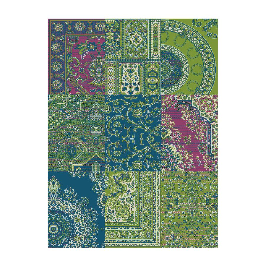 tapis helen vert bleu 190 x 280 cm hanse home collection par hanse home collection chez home24 fr. Black Bedroom Furniture Sets. Home Design Ideas