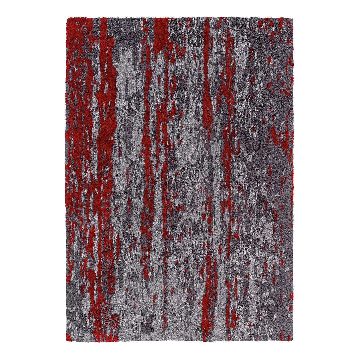 Teppich Impression - Kunstfaser - Grau / Weinrot - 120 x 180 cm, Schöner Wohnen Kollektion