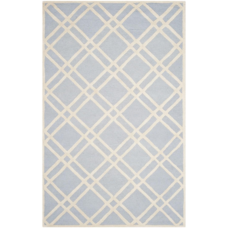 Teppich Mati handgetuftet - Wolle - Matt Hellblau - 152 x 243 cm, Safavieh
