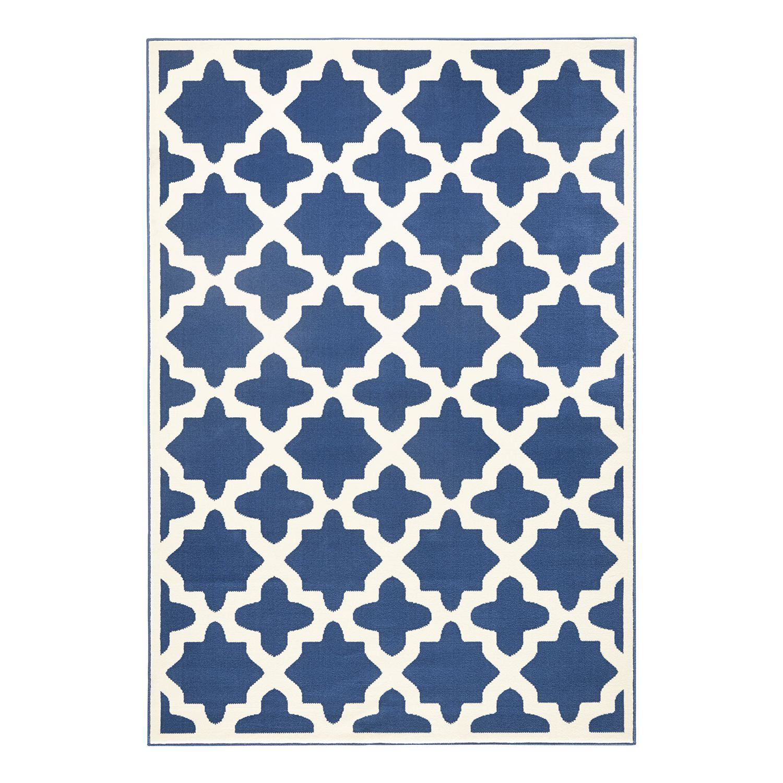 Teppich Noble - Kunstfaser - Blau / Beige - 140 x 200 cm, loftscape