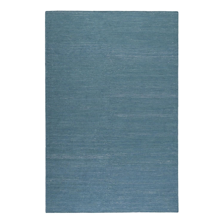 Teppich Rainbow Kelim handgewebt - Baumwollstoff - Petrol - 160 x 230 cm, Esprit Home
