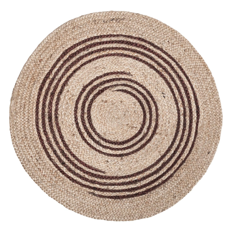 Teppich Tatu - Jute (handgeflochten) - Braun - Ø 90 cm, Eva Padberg Collection