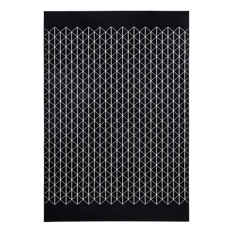 Teppich Twist - Kunstfaser - Schwarz / Creme - 140 x 200 cm, Zala Living
