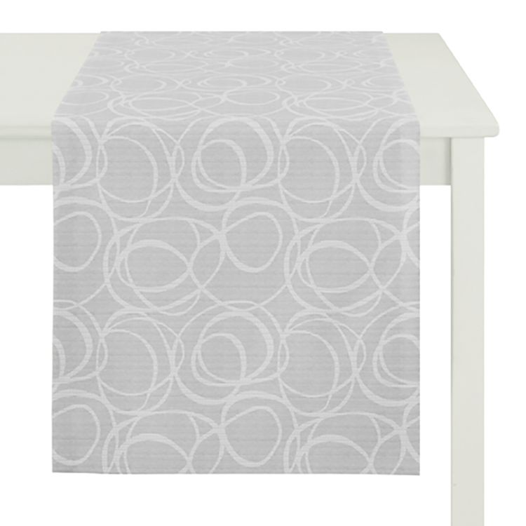 home24 Tischlaeufer Alabama | Heimtextilien > Tischdecken und Co | Grau | Textil | Apelt