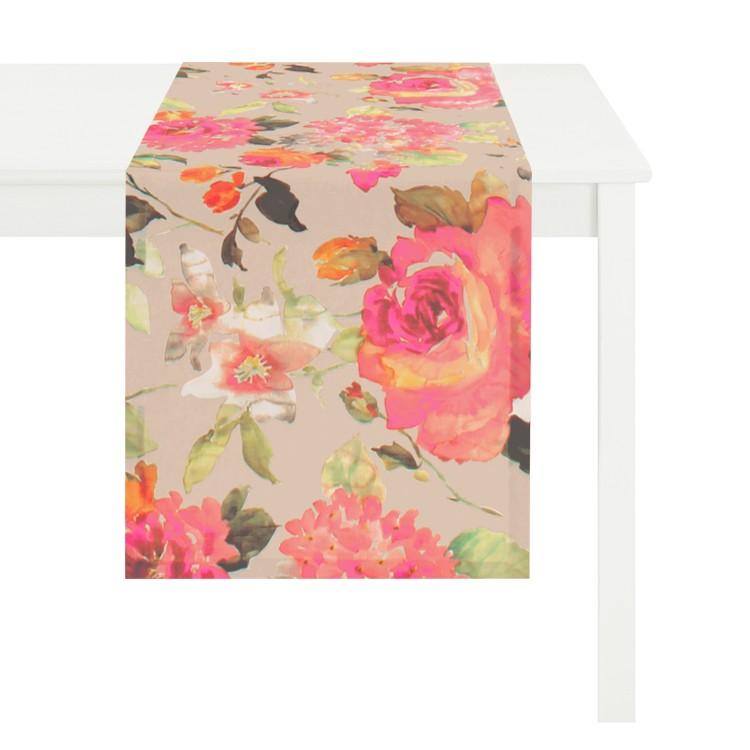 Tischläufer Floral- Creme, Apelt